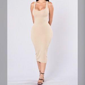 Small Beige Midi Dress